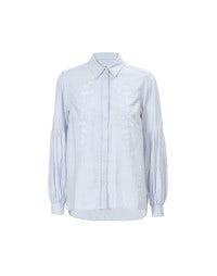 SYLUAN: Camicia azzurra in cotone ricamato