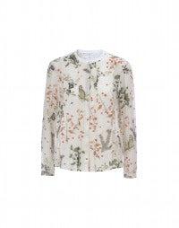 COMBO: Bluse aus Seide und bedruckter Baumwolle