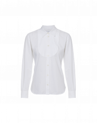 PERK: Long sleeve shirt in fine white cotton