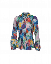 TRANQUIL: Multi-colour print shirt