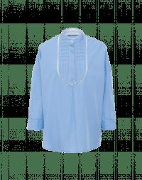 MEMORABLE: Bib front in sky blue cotton poplin