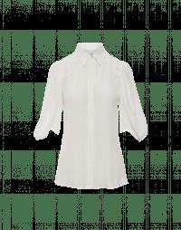 OF-INTEREST: Camicia in crêpe de chine avorio