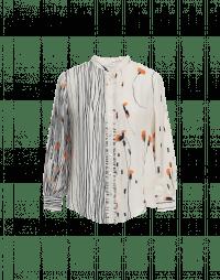 HALCYON: Camicia in seta con doppia stampa