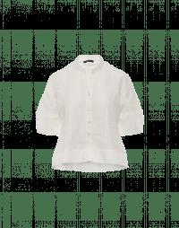 JONQUIL: Camicia in ramie di cotone bianco