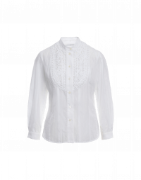 ADMIRER: Embroidered bib front shirt