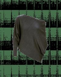 TEMPER: Maglia asimmetrica con manica singola in puro cashmere