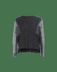 HAIKU: Shades of grey colour block fine crew neck sweater