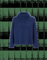 JASPER: Super soft cowl neck sweater in soft blue