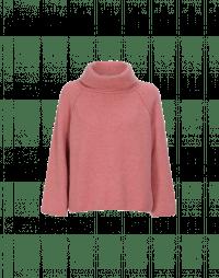 JASPER: Maglia morbida a collo alto color rosa chiaro