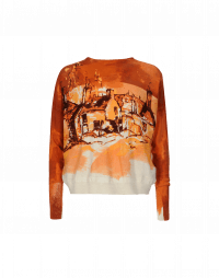 PAINTERLY: Cotton knit crew neck with