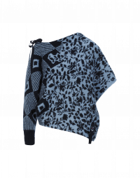 QUARREL: Maglia asimmetrica con manica singola e motivo floreale geometrico