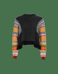 AMPLIFY: Maglia grigia con abbottonatura posteriore e maniche multicolore