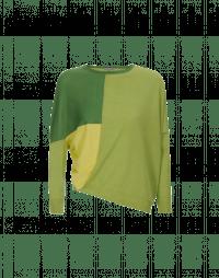 SEQUEL: Maglia con blocchi di colore gialli e verdi