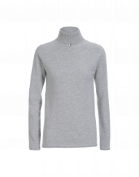 OVERCOME: Luxe pale grey cashmere turtleneck