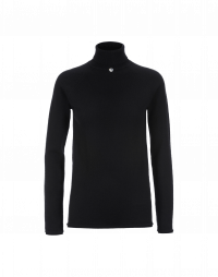OVERCOME: Maglioncino a collo alto in cashmere nero