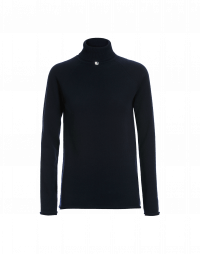 OVERCOME: Luxe navy cashmere turtleneck