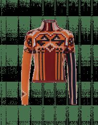 PRIZE: Multi-colour geometric pattern turtleneck