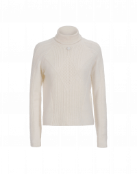 PURITY: Roll neck sweater in alpaca mix