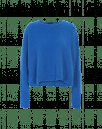 BLUFF: Cobalt blue angora crewneck