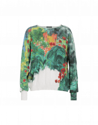 VISIONARY: Soft impressionist floral printed sweater