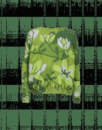 FLOWERING: Maglia con foglie e righe