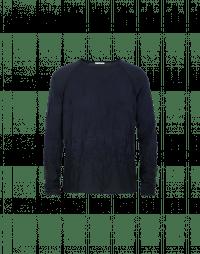 RITUAL: Maglia blu navy con pattern 3D
