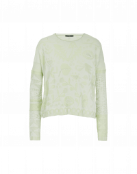 GLARE: Pale green sweater with 3D pattern