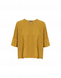 INDICATE: Ultra-wide multi-pattern knit sweater