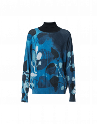 HIDEOUT: Printed roll neck cotton sweater