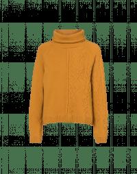 TRUSTING: Maglione girocollo giallo a taglio quadrato