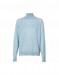 COCOON: Pale blue roll neck sweater