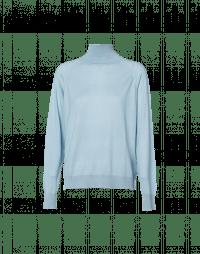 COCOON: Maglioncino a collo alto azzurro