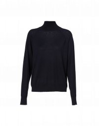 COCOON: Navy roll neck sweater