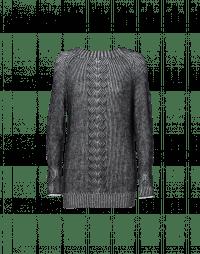 PASSIONATE: Maglioncino nero e avorio in lana mohair fine