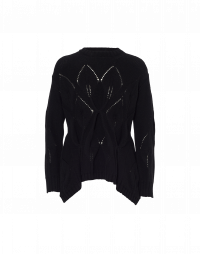 TALENTED: Black sweater with pointed