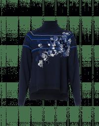 FLEURET: Maglioncino a collo alto con stampa floreale e rigatura a rilievo