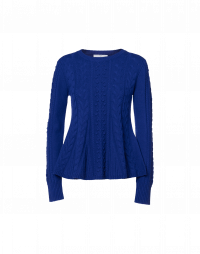 PERFORMANCE: Maglioncino in cashmere blu marina