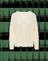 AFTER-ALL: Maglioncino color crema con pattern a rilievo