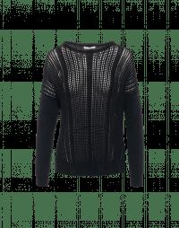 AFTER-ALL: Maglioncino nero con pattern a rilievo