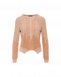 AMOROUS: Apricot venisé shaded sweater