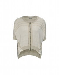 JIB: Curved front short sleeve cardigan