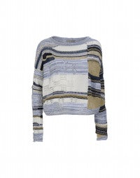 FLOTSAM: Patchwork boxy knit