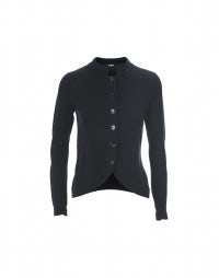 TOUCHY: Navy stand collar knit jacket