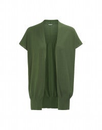 DECK: Green edge to edge cardigan gilet