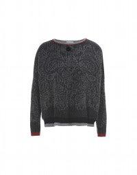 BOYAR: Maglioncino con motivo paisley grigio e nero