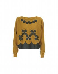 DACHA: Mustard with black matt and gloss sweater