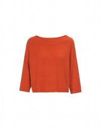 QUINK: Pullover aus orangefarbenem Kaschmir