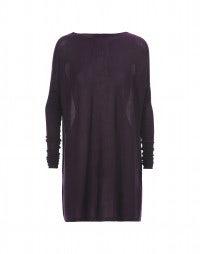EBONY: Mulberry cashmere-silk jersey top