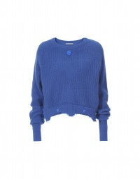 CITRINE: Marine cropped sweater with double hem