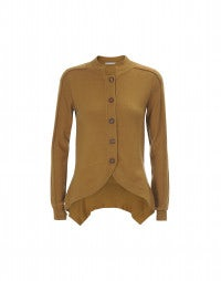 GENTRY: Caramel curved front cardigan